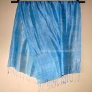 Thai Silk Fabric Scarf Shawl Hand Crafted Large BABY BLUE Direct from Thailand