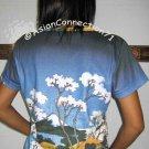 Hokusai FUGAKU SANJUROKEI Japanese Ukiyoe Art T Shirt Misses L Large Short Sleeve