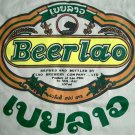 BEER LAO Cool Original Top Quality Cotton T-shirt M Beige Khaki Tan