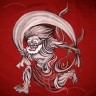 Raijin Fujin Japanese Wind Thunder Gods RONIN Tokyo Yakuza T-shirt M Red