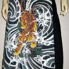 Japanese Tiger Irezumi Freesize Cotton Wrap Skirt S-XL Japan Tattoo Art Print