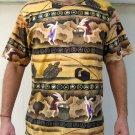 JAPAN Usagi FOLKLORE Japanese UKIYOE Art Print T Shirt MENS L Large PN