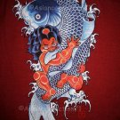 RED ONI and KOI Limited Edition RONIN Japan Yakuza T-Shirt L Large RED