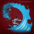 DRAGON SURF Japan Tattoo RONIN T-Shirt L Large RED Limited Edition