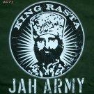 KING RASTA Haile Selassie JAH ARMY Reggae T-shirt L Grn