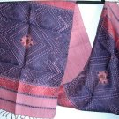 Laotian KHOM JOK Silk Fabric Thai Laos Textile Art 5-2