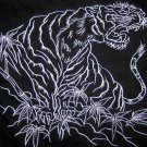 JAPAN TIGER DRAGON Long Sleeve EMBROIDERED T-Shirt XL