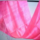Thai HOT PINK Pure Silk Hand Craft Fabric Scarf New!
