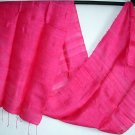 Thai Pure Silk Fabric Scarf MAGENTA Pink New Hand Craft