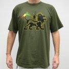 CONQUERING LION of JUDAH Rasta REGGAE T-shirt XL Green