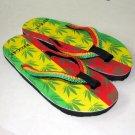 MARIJUANA REGGAE New Flip Flops Beach Sandals Size 5