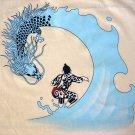 DRAGON SURF Japan Irezumi Tattoo RONIN Yakuza Tokyo Surfing T-Shirt S Cream