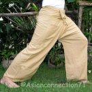 Thai KHAKI TAN BEIGE Rayon FREESIZE Fisherman Yoga Pants