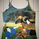 Hayabusa Samurai Japan Ukiyoe Art Print Shirt Singlet TANK TOP Misses S Small