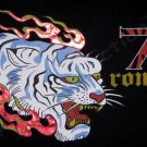 Ronin 7 Gold Foil Print Japan Yakuza Samurai T shirt XL Acid Wash Black