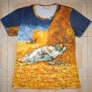 LA SIESTE Van Gogh Fine Art Print Cap Sleeve T-Shirt Misses XL