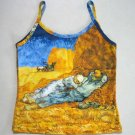 LA SIESTE Van Gogh Art Print Singlet TANK TOP Shirt Misses L Large