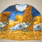 LA SIESTE Van Gogh Art Print LONG SLEEVE T-Shirt Misses L Large