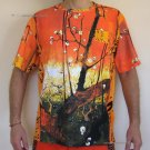 PLUM TREES In BLOOM Van Gogh JAPONISME Fine Art Print T Shirt Men&#39;s M