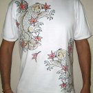 MOMIJI Maple Japanese KOI Fish Irezumi Biker Tattoo Shirt Unisex M Short Sleeve