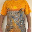 Van Gogh SEMINATORE COL SOLE Fine Art Print T Shirt MEN'S L Large