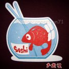 FISHY SUSHI Fun CISSE Disco Rave T-shirt Asian M Purple