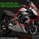 Kawasaki 55028-0235-H8 Ninja 650R ER6f OEM RIGHT Upper Fairing EBONY Black 2009 2010 2011