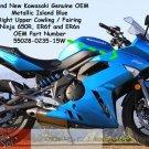 Kawasaki 55028-0235-15W Ninja 650R ER6f OEM RH Right UPPER Fairing Metallic Island BLUE 09 10 11