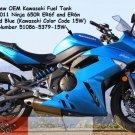 Kawasaki 51086-5379-15W Ninja 650R ER6f ER6n OEM GAS FUEL TANK Metallic Island Blue 09 10 11