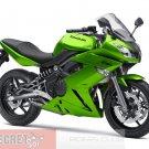 Kawasaki Ninja 650R OEM RH RIGHT TAIL FAIRING Candy Lime Green 36040-0082-15P 09 10 11