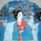 WINTER GEISHA New LONG SLEEVE Japan Art Print T Shirt L