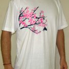 Japanese SAKURA Cherry Blossoms RONIN YAKUZA Japan T-Shirt L Large White