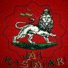 JAH RASTAFARI LION of JUDAH Roots Rasta Irie Dub Reggae T-Shirt XL Red