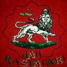 JAH RASTAFARI LION of JUDAH Roots Rasta Irie Dub Reggae T-Shirt M Medium Red