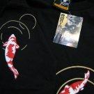 Japanese KOI Lucky Fish RONIN Japan Tokyo Yakuza T-Shirt M Medium Black BNWT