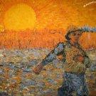 Van Gogh SEMINATORE COL SOLE New Fine Art Print T Shirt Misses XL