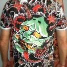 ONI Devil Japan IREZUMI Tattoo SHORT Sleeve T Shirt Unisex L