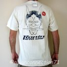 RONIN STREET WEAR Japanese ONI Devil Yakuza T-Shirt S Cream