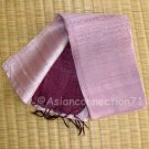 Thai Hand Craft Silk Fabric Scarf New PINK and MAROON