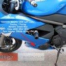 Kawasaki Ninja 650R ER6f OEM Left Lower Fairing Metallic Island BLUE Part 55028-0238-15W 09 10 11