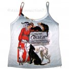 CLINIQUE CHERON Singlet STEINLAN Art Print Shirt TANK TOP Misses Size L Large