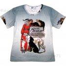 CLINIQUE CHERON New STEINLAN Fine Art Print T Shirt Misses Size L Large