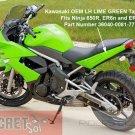 Kawasaki Ninja 650R OEM LH Left TAIL FAIRING Lime Green 36040-0081-777 2009 2010 2011