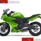 Kawasaki Ninja 650R 36040-0081-15P OEM LH Left TAIL FAIRING Candy Lime Green 09 10 11