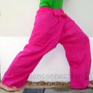 Thai Fisherman Yoga Pants MAGENTA PINK 280 gram Cotton FREESIZE