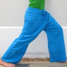 Thai Fisherman Pants SKY BLUE 280 gram Cotton FREESIZE Yoga Trousers