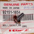 Kawasaki 92151-1654 Ninja OEM Fairing BOLT SOCKET 6 x 14 (6) Set of Six