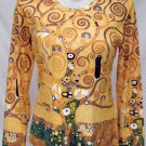 TREE of LIFE Gustav Klimt Long Sleeve Fine Art Print T Shirt Misses XL