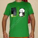 BEACH PANDA Fun New CISSE T-shirt Asian XL Green BNWT