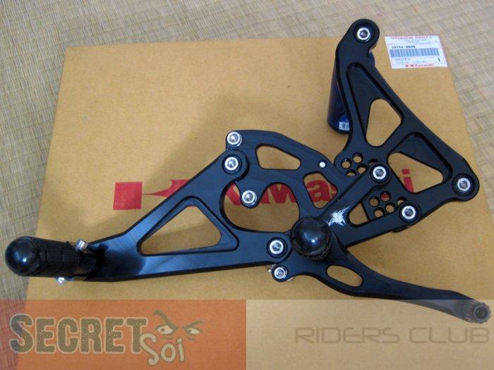 Kawasaki Ninja 650R ER6n RACE REARSETS + Pax Pegs BLACK 09 10 11 Rear Set